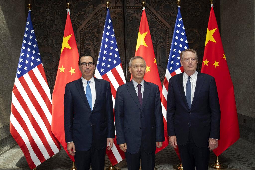 中美於上海貿易談判,未能帶回特朗普想要的成果。AP