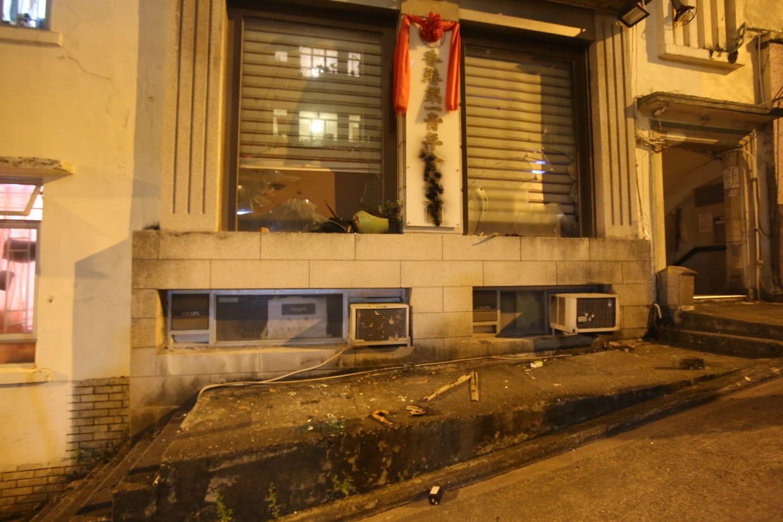 北角有商戶玻璃被破壞