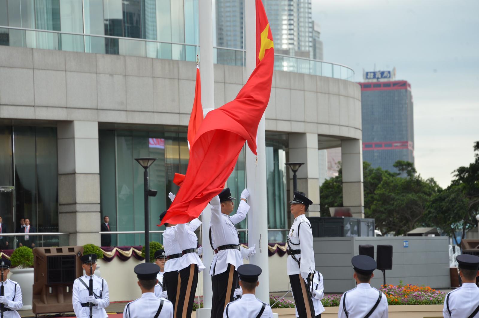 升旗儀式取消。資料圖片
