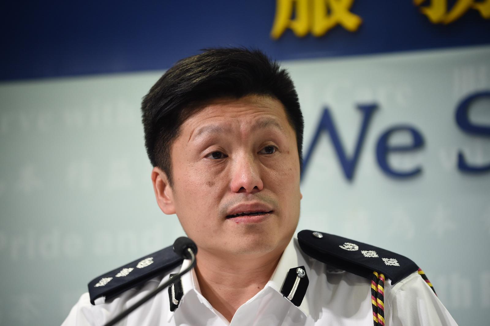 警察公共關係科總警司謝振中。