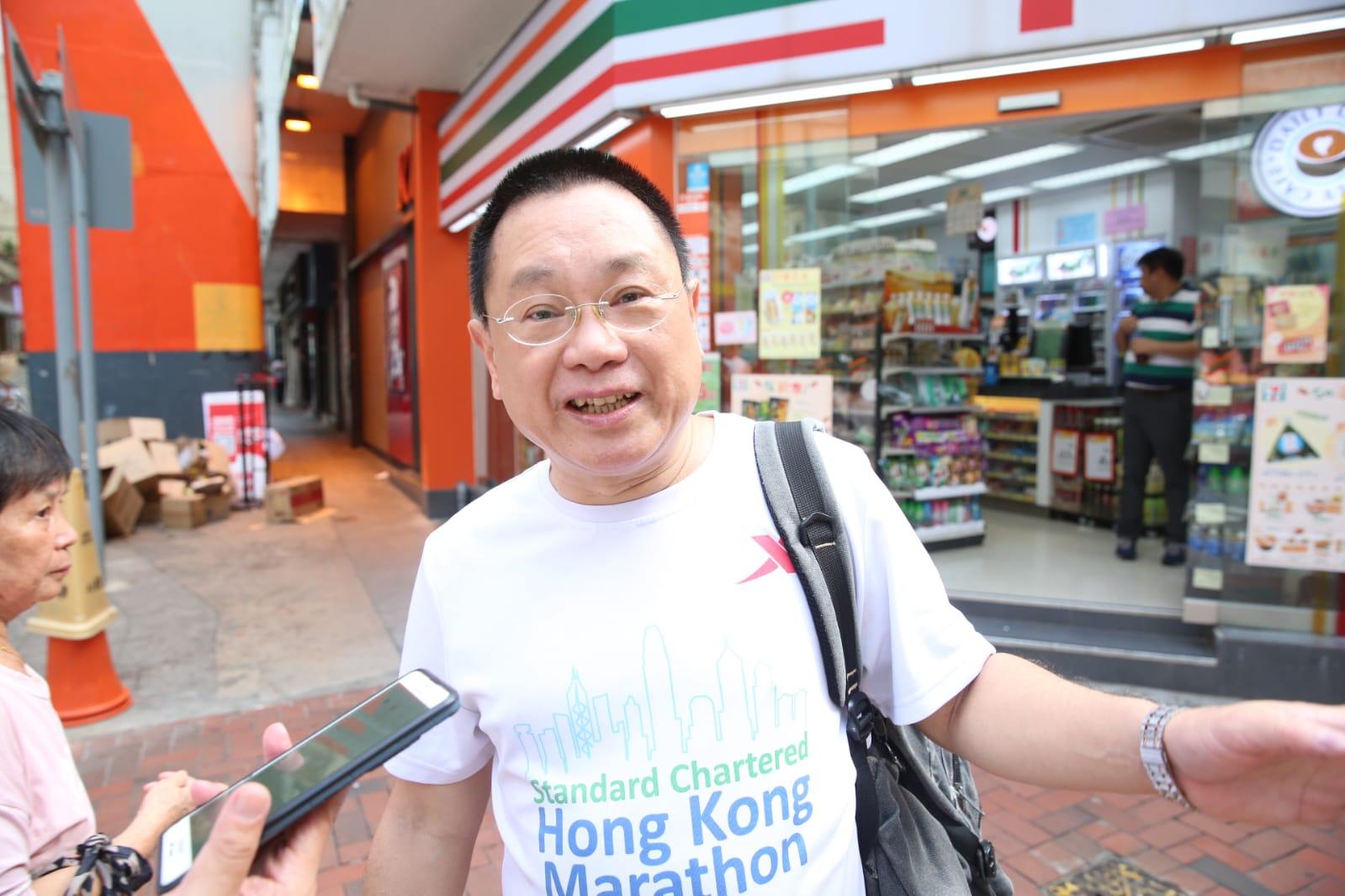 北角街坊黃先生表示不太擔心。