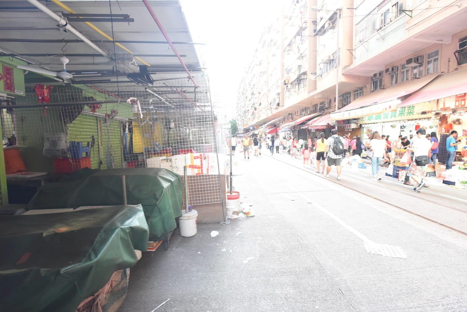 北角春秧街市排檔已關門。
