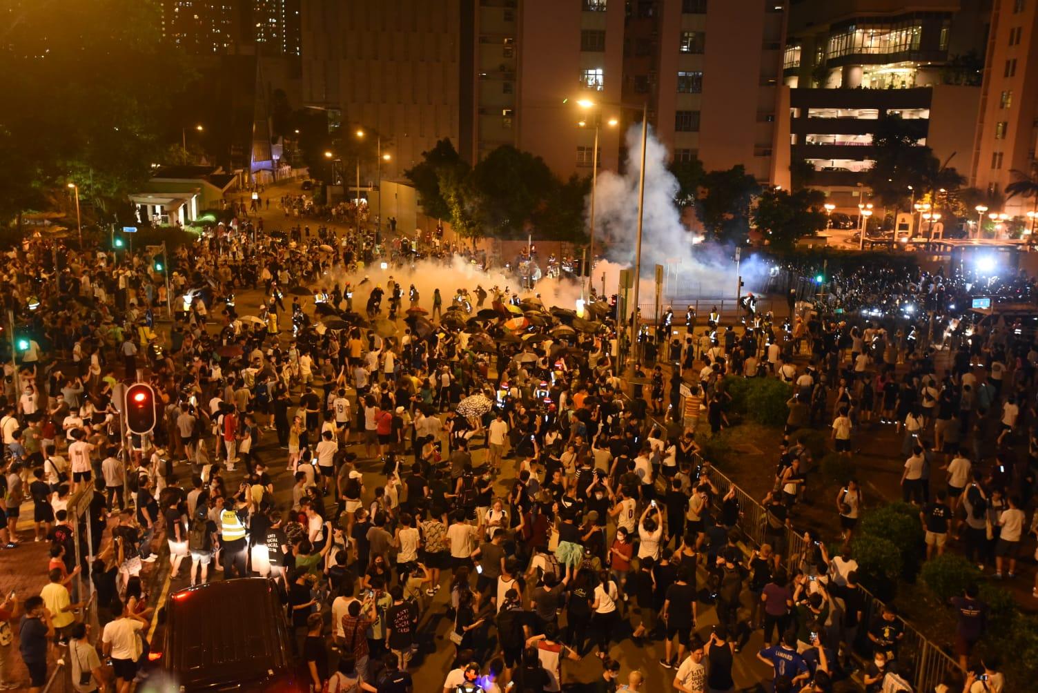 港府修訂《逃犯條例》風波觸發連串示威抗議,並演變成警民衝突。資料圖片