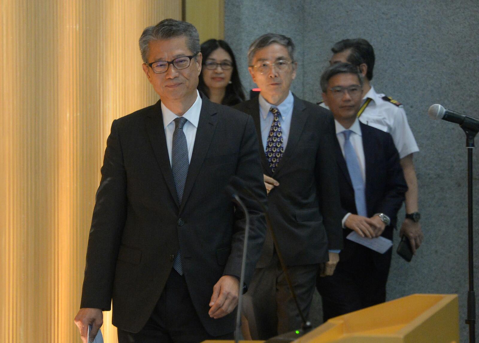 陳茂波下午召開「金融領導委員會」會議
