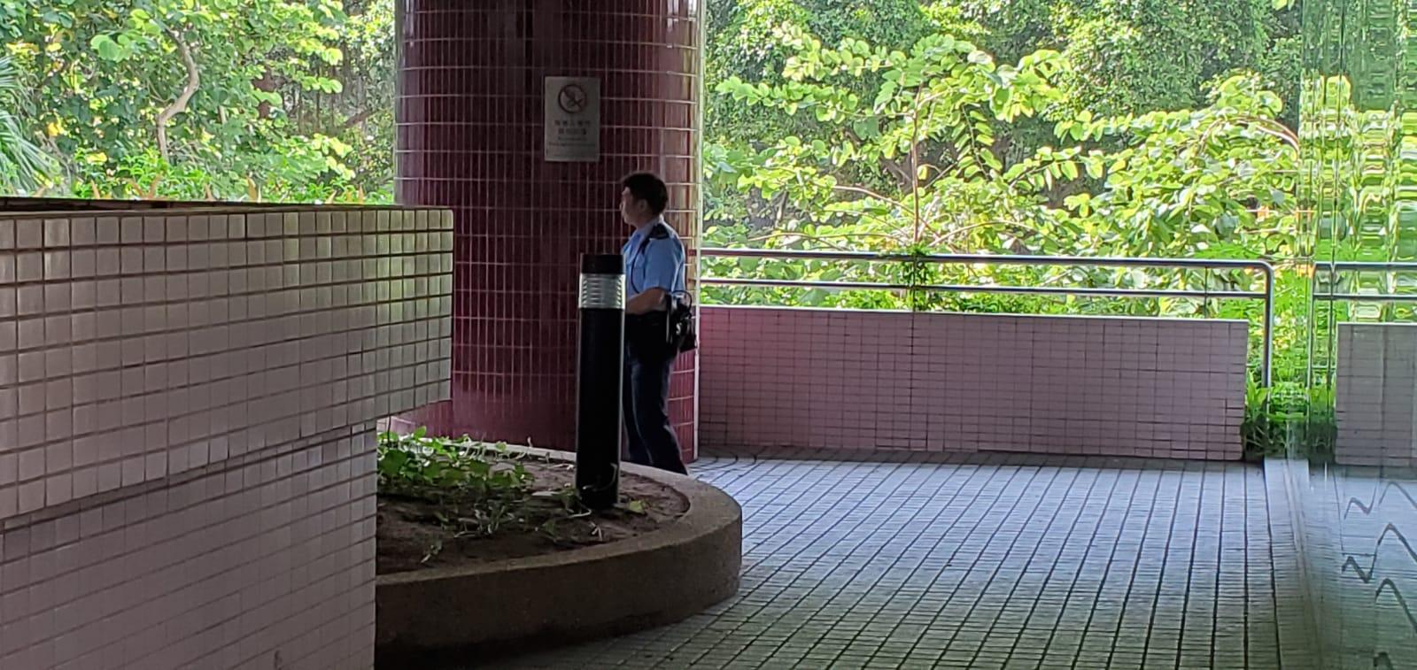 警員到場調查。 楊偉亨攝