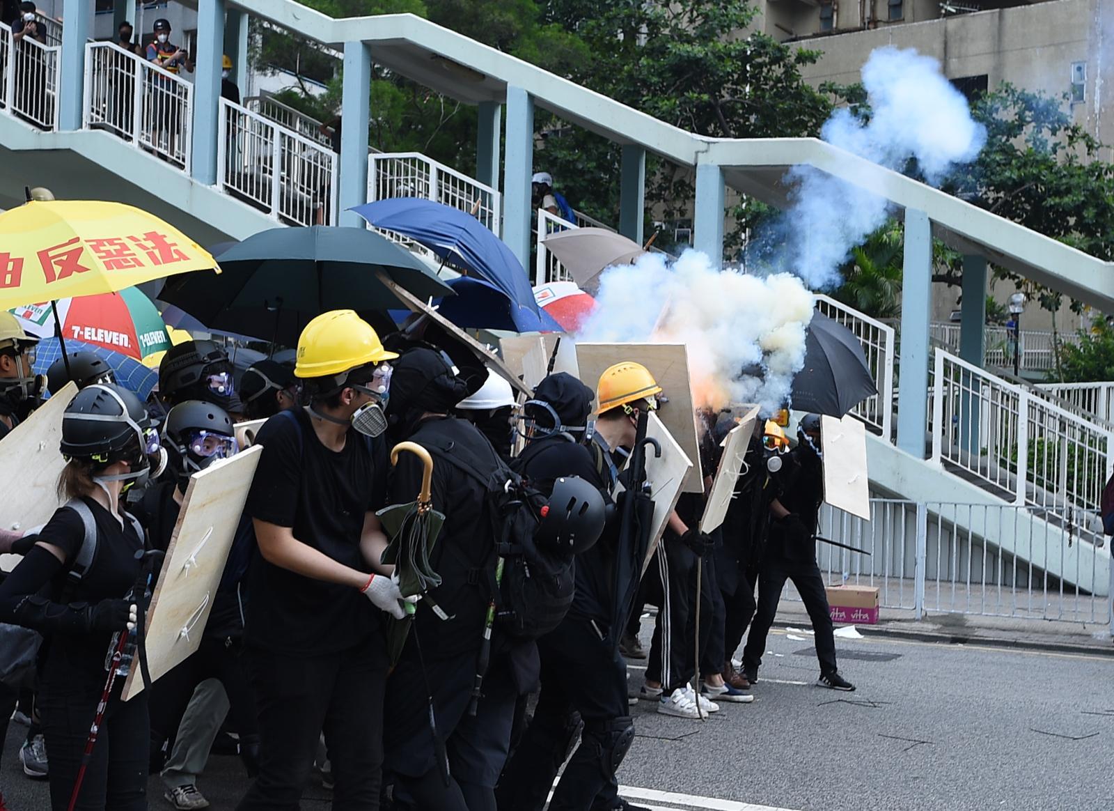 香港修訂《逃犯條例》所引發一連串示威衝突持續不斷。資料圖片
