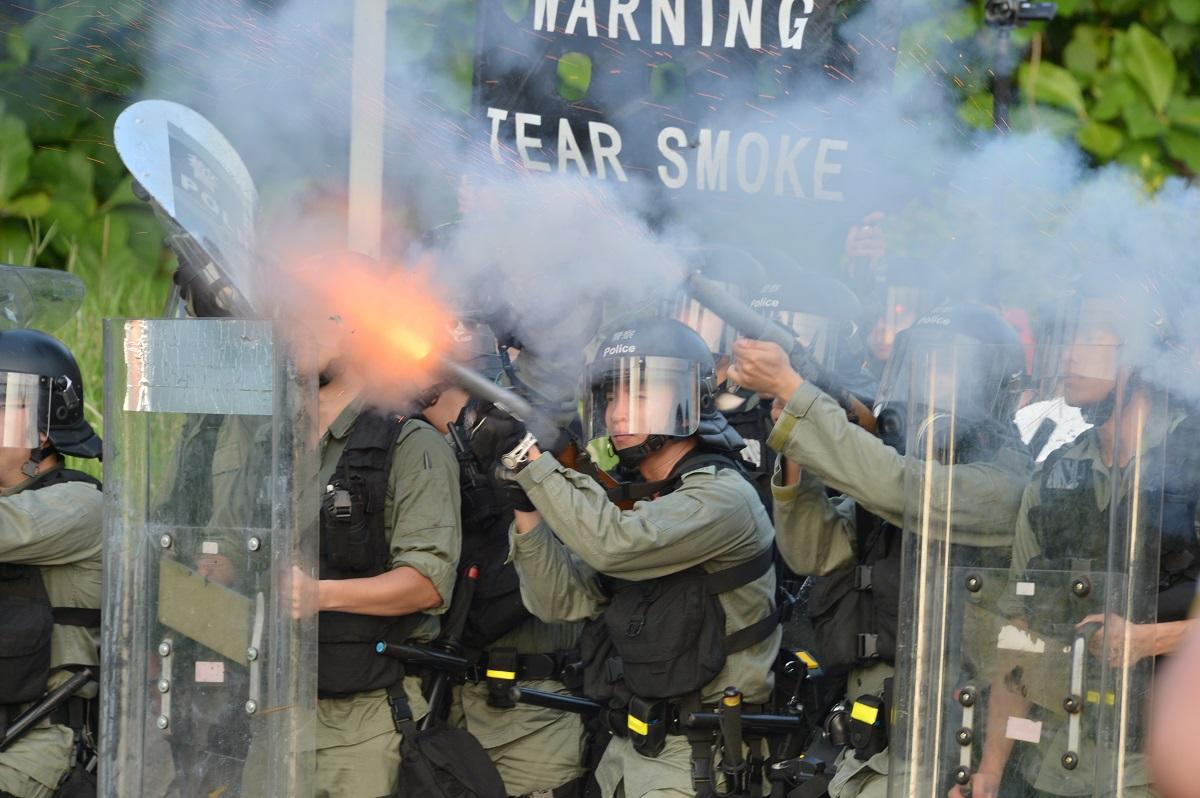 8月5日示威者在大埔與警察爆發激烈衝突。資料圖片