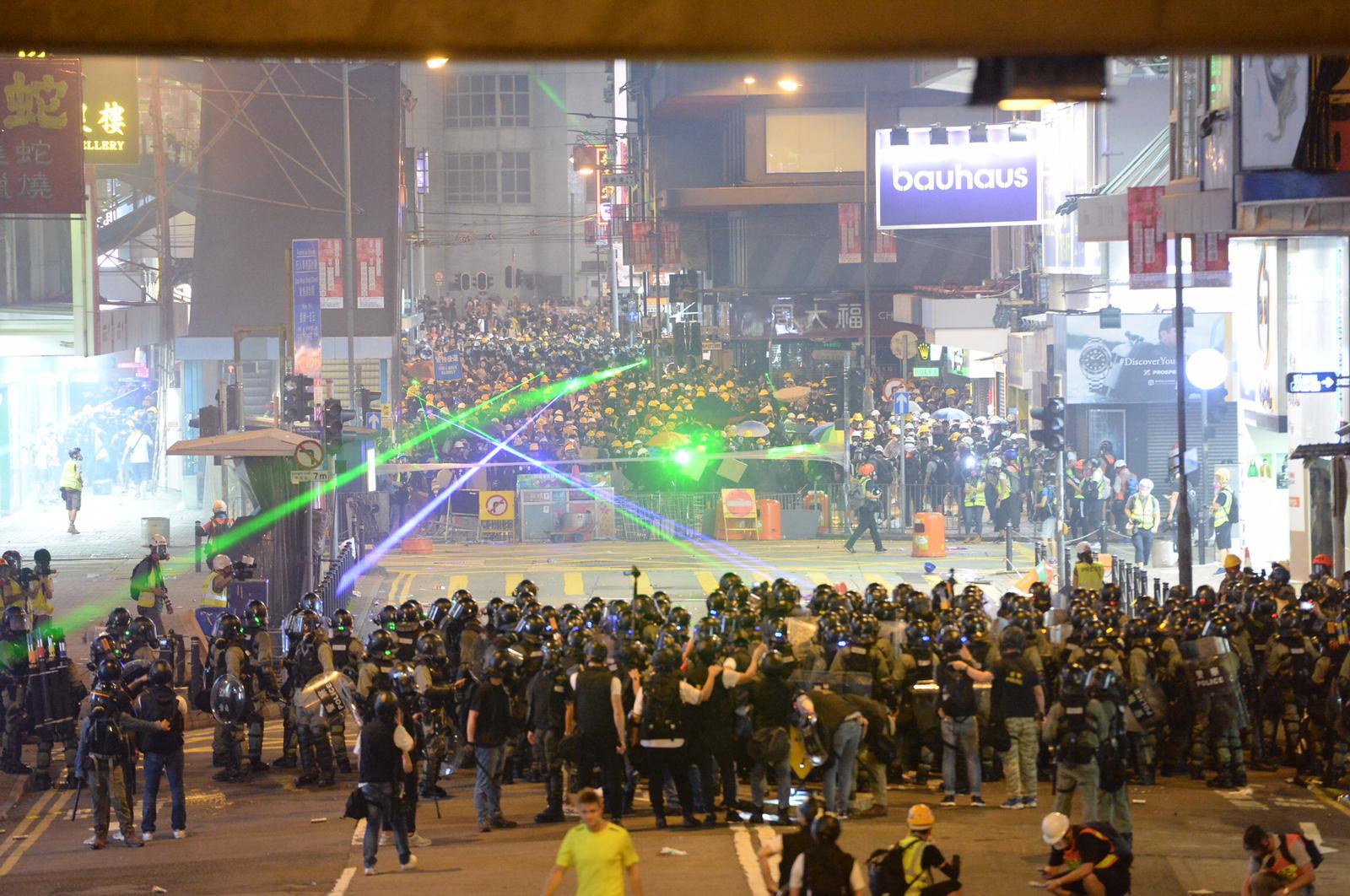 本港示威衝突不斷。資料圖片