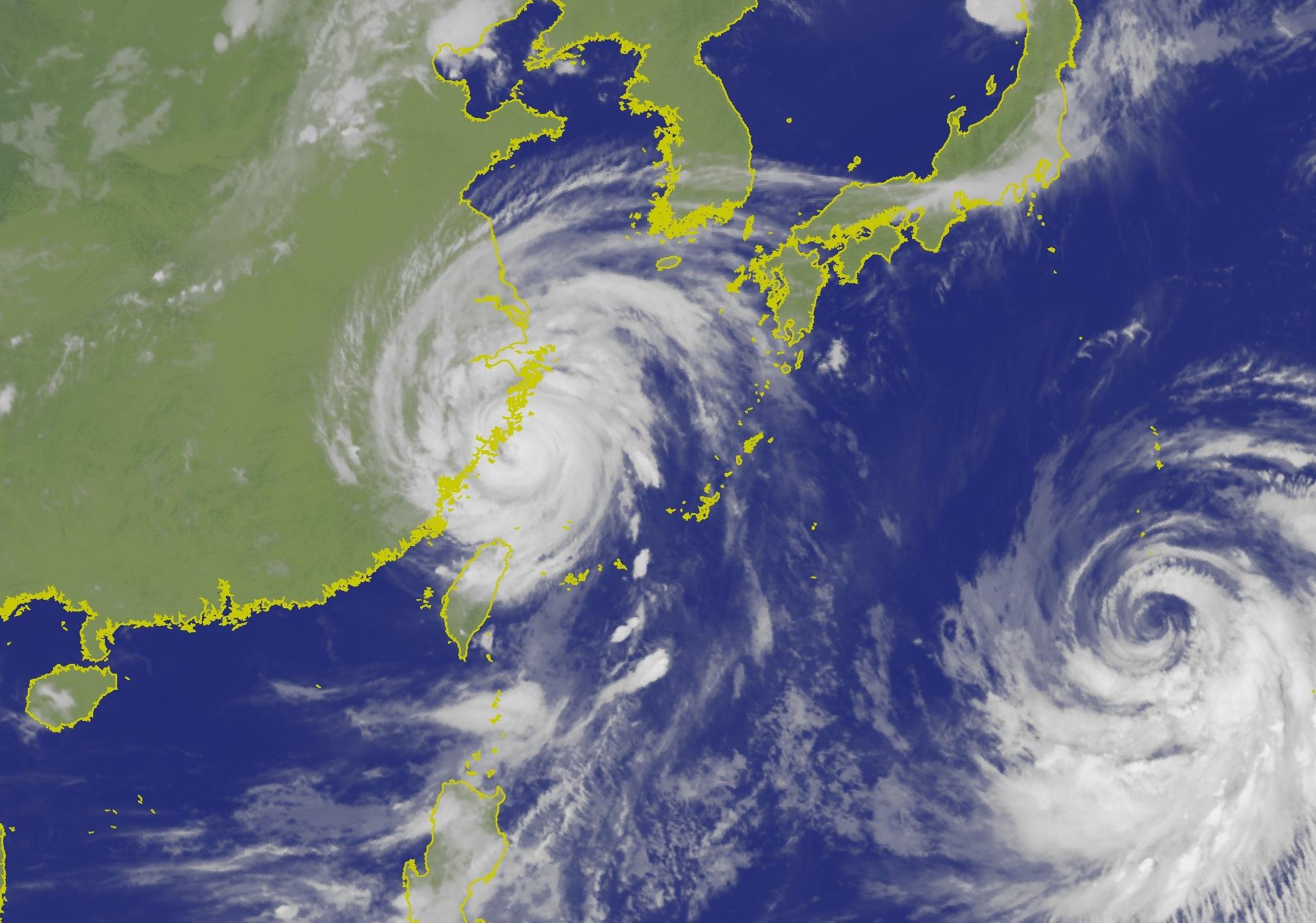 利奇馬逐漸遠離台灣。台灣中央氣象局
