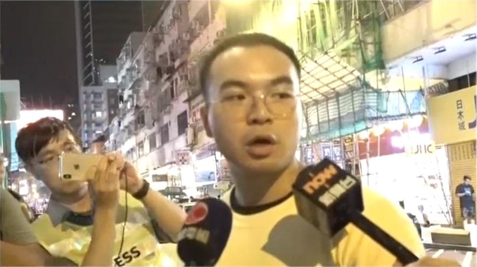 王先生稱被普通話男子驅趕。港台電視截圖