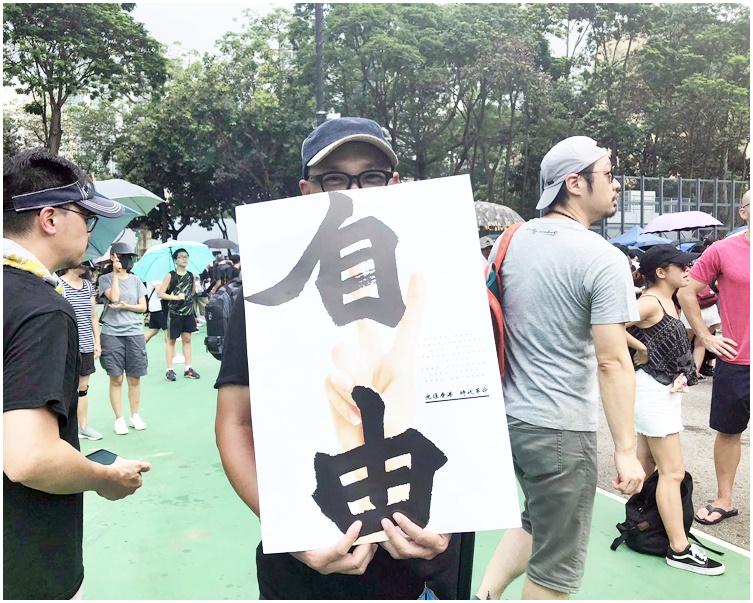 退休人士梁先生不批判示威者堵路行為。