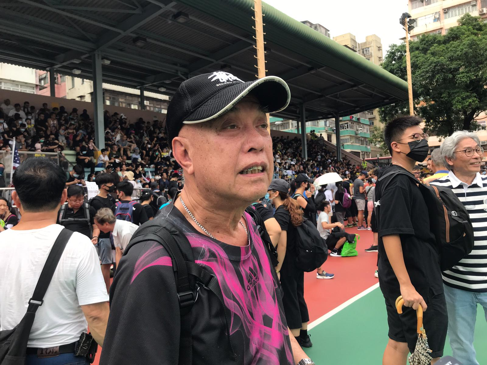 趙先生不擔心被捕。