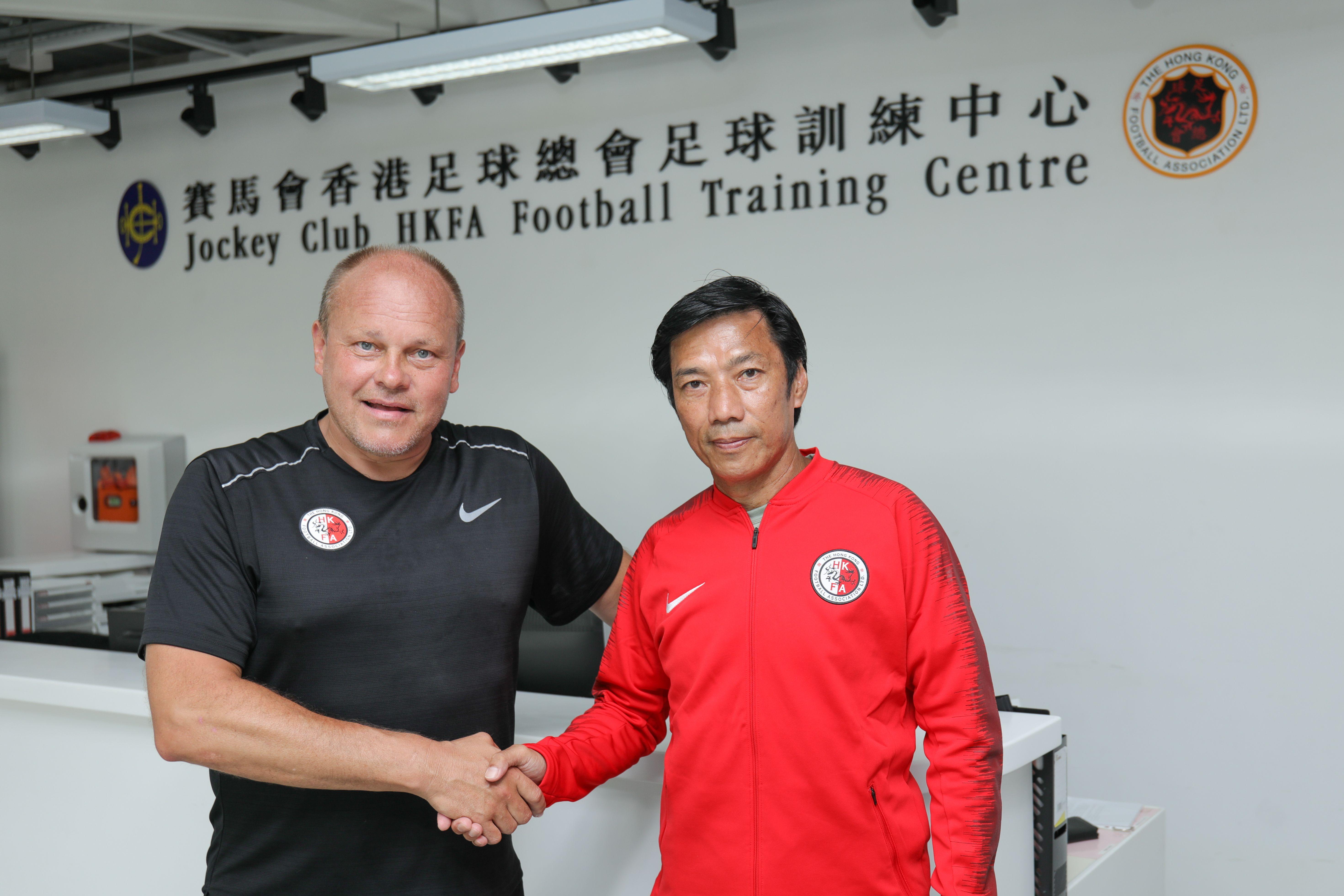傑志宣布新球季轉任足球總監的朱志光,轉任成為港隊助理主教練。相片由公關提供