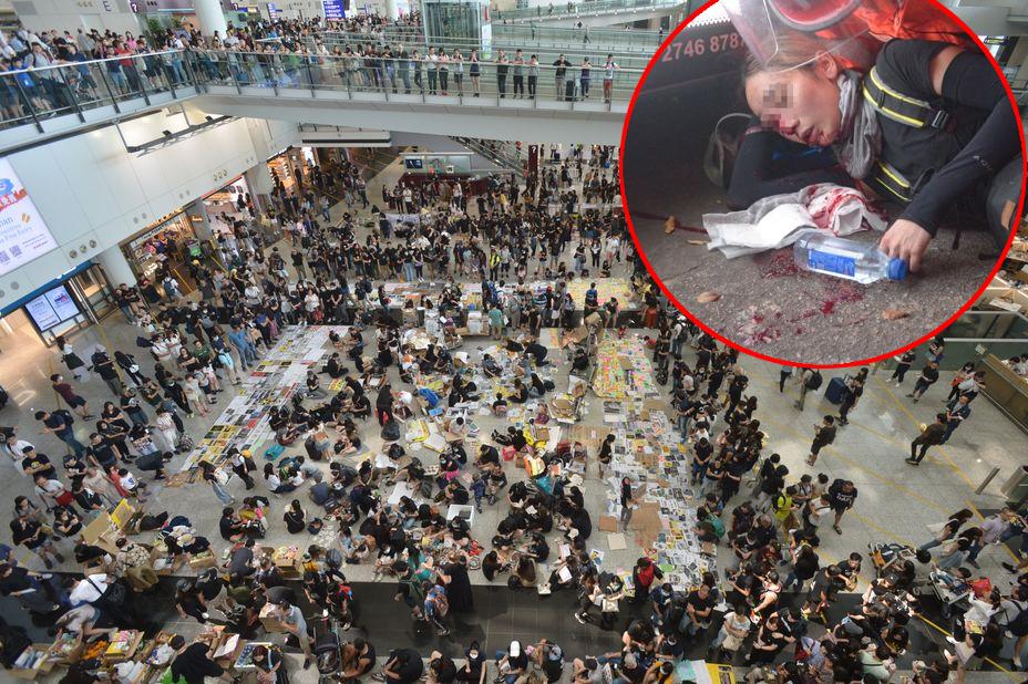 網民發起塞爆機場行動抗議。資料圖片