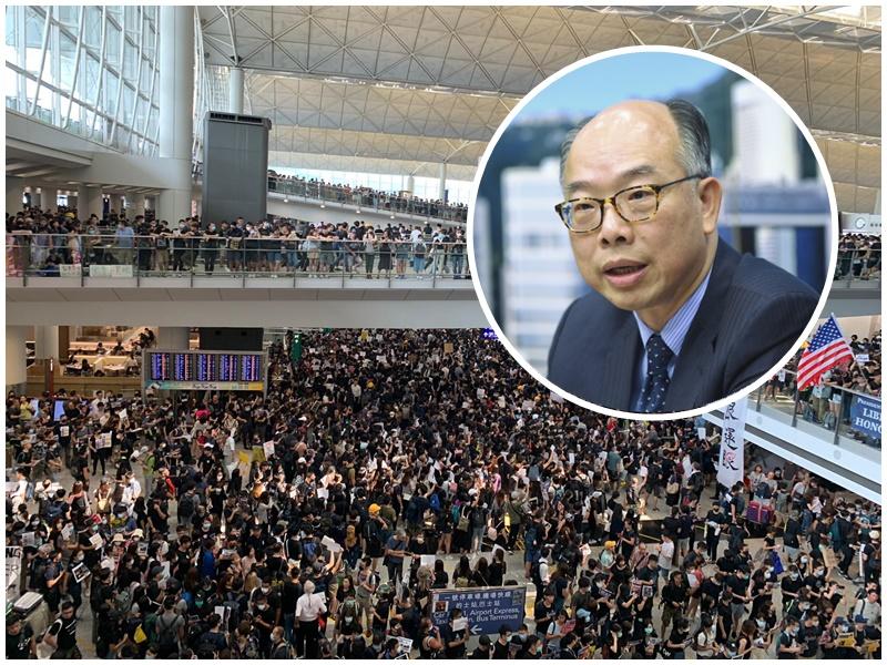 陳帆(小圖)指示威者和平散去不須動用任何措施。