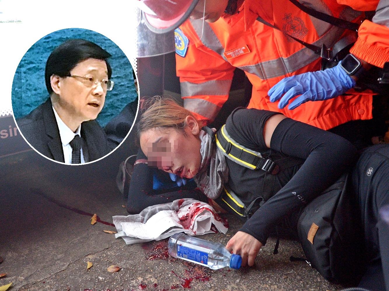 李家超稱,警方作出警告前,已有足夠時間讓在場人士離開。