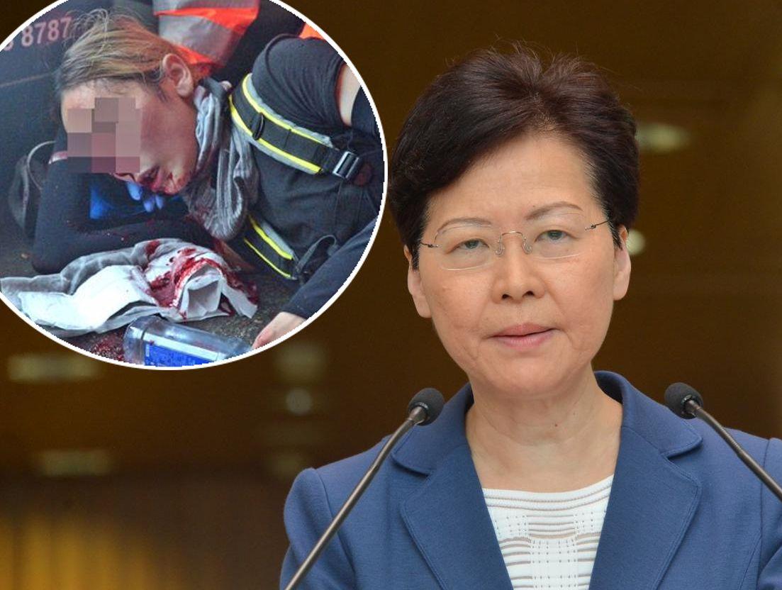 林鄭呼籲少女報案讓警方能夠查出真相。