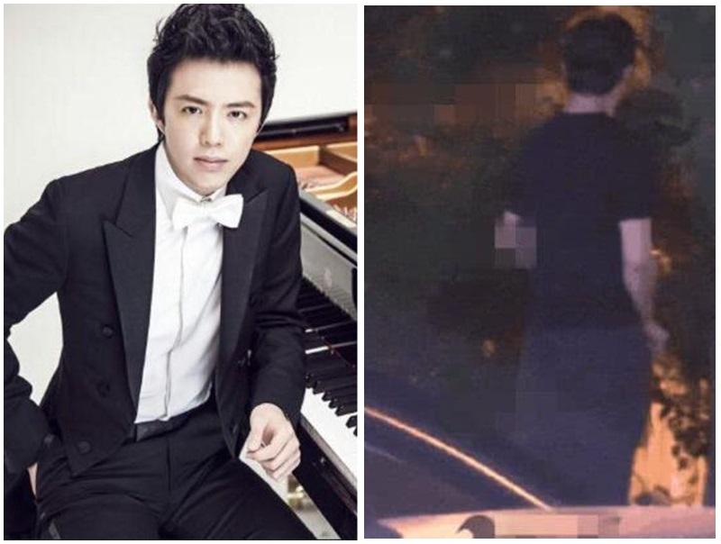 鋼琴王子李雲迪被拍到當街小便,有辱斯文。網圖