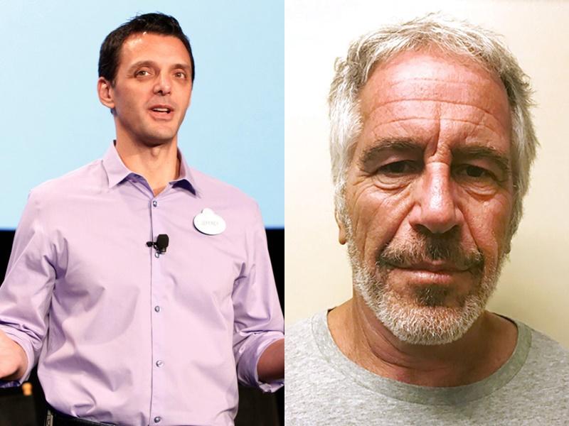 迪士尼公關男職員(左)與美國富豪愛潑斯坦(右)同名同姓。網圖/AP