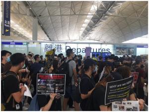 【機場集會】國泰譴責阻撓航空樞紐運作行為
