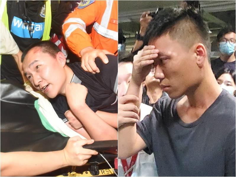 昨晚先後有兩人被示威者圍困。