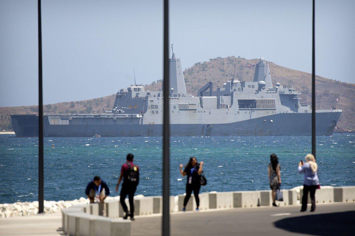 美國海軍兩棲運輸艦「格林貝號」。AP