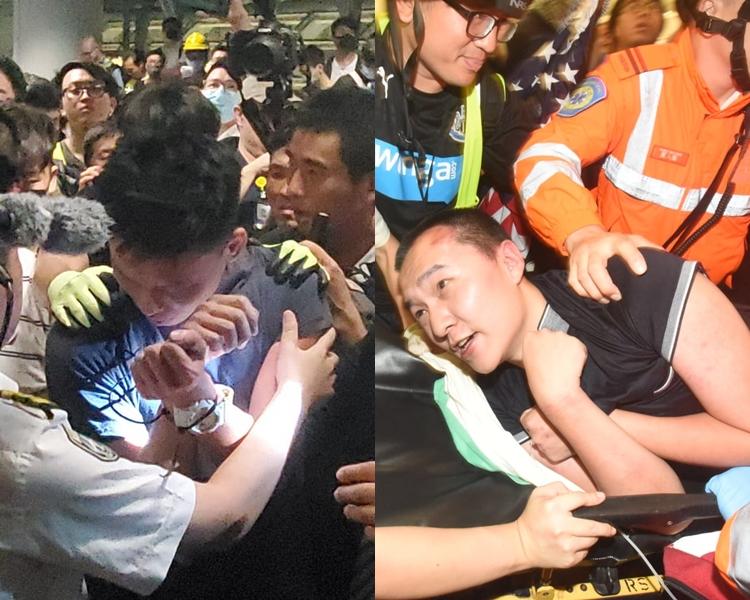 昨晚一名環時記者及一名內地男子在機場被襲。 資料圖片