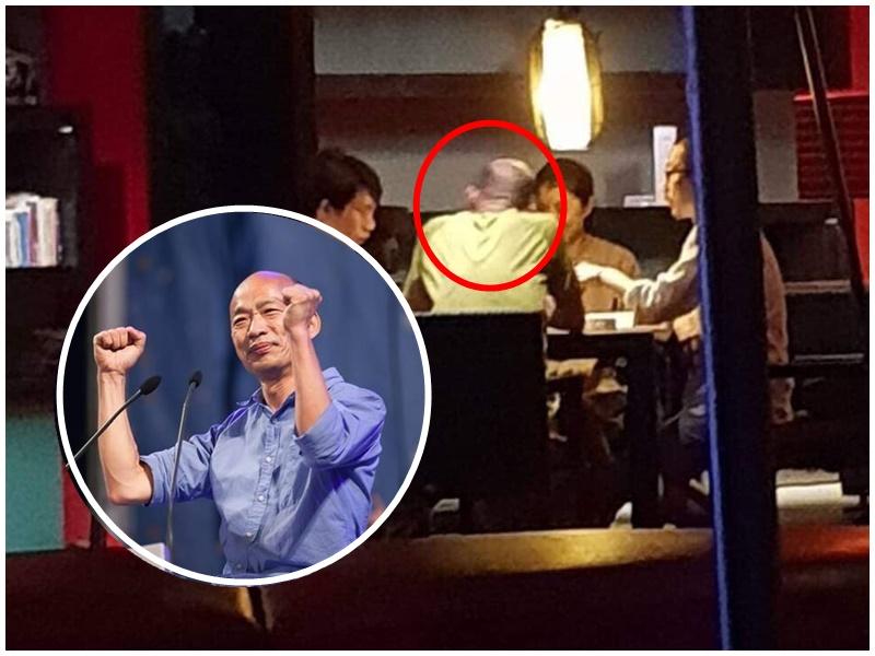 韓國瑜打麻雀遭踢爆。林智鴻facebook/網圖