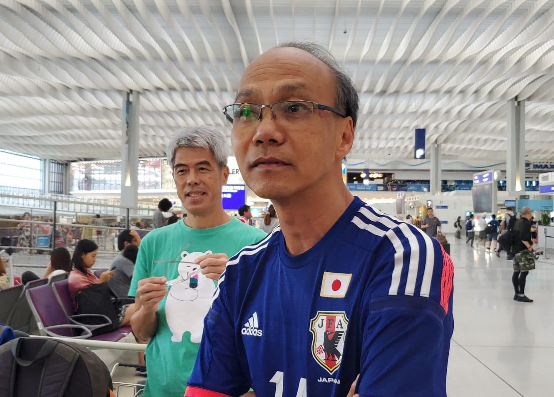 旅客莫先生希望和平解決事件。林思明攝