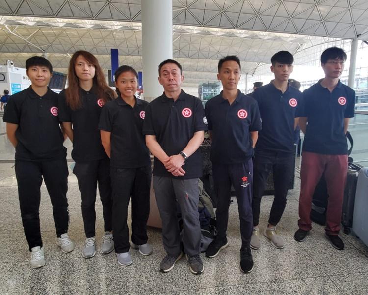 香港跆拳道代表隊,往越南代表香港參加國際賽。林思明攝