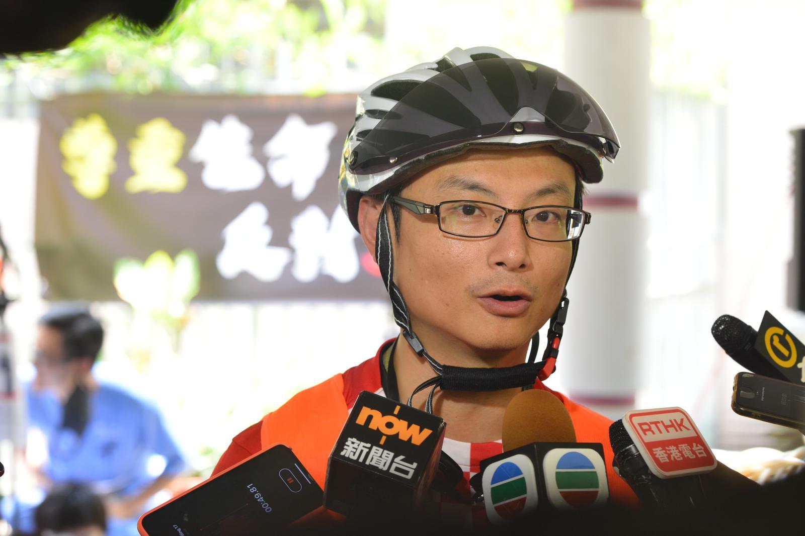 參與集會的律敦治醫院內科副顧問醫生陳沛然。