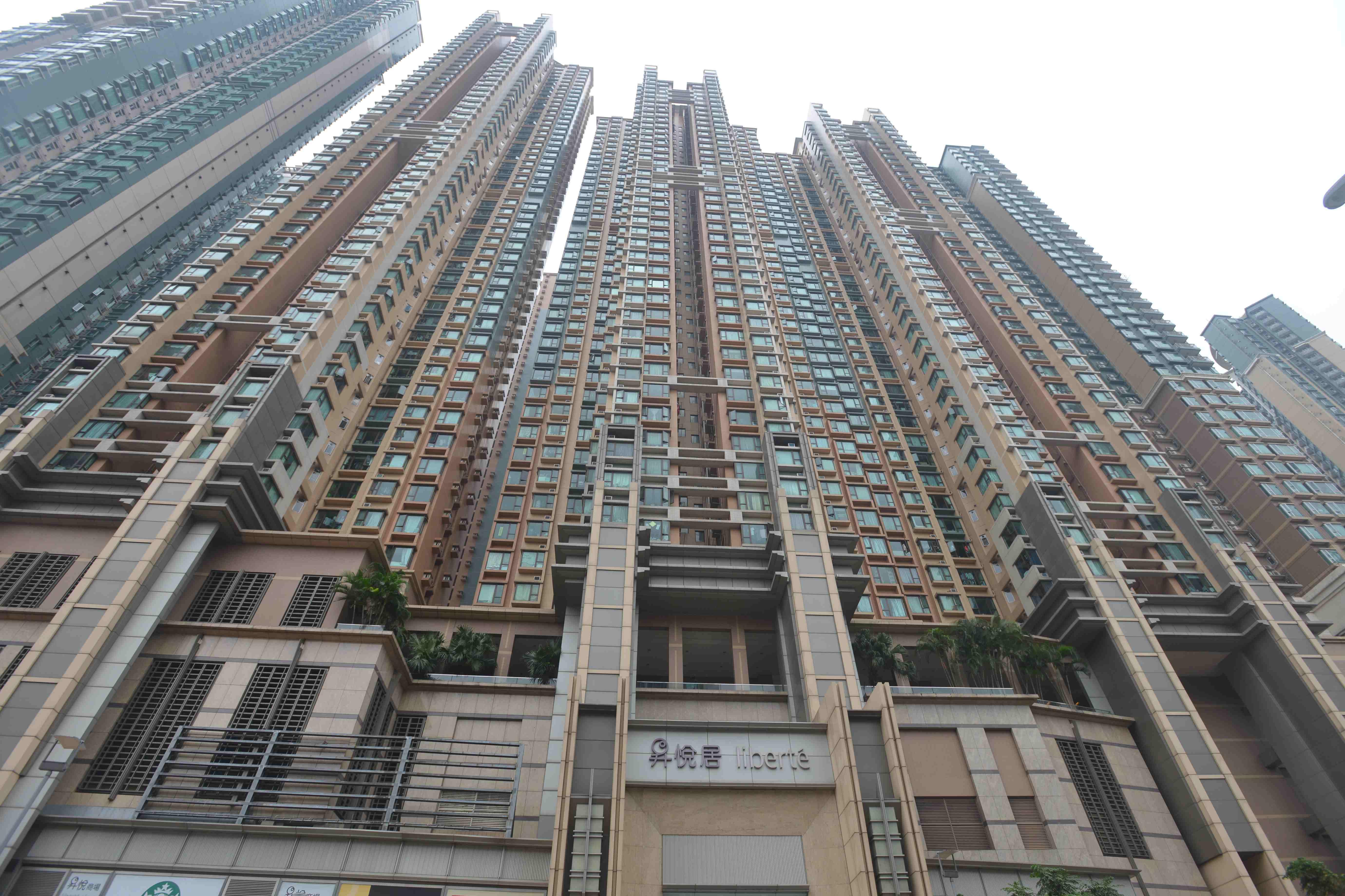昇悅居中層呎租39.7元