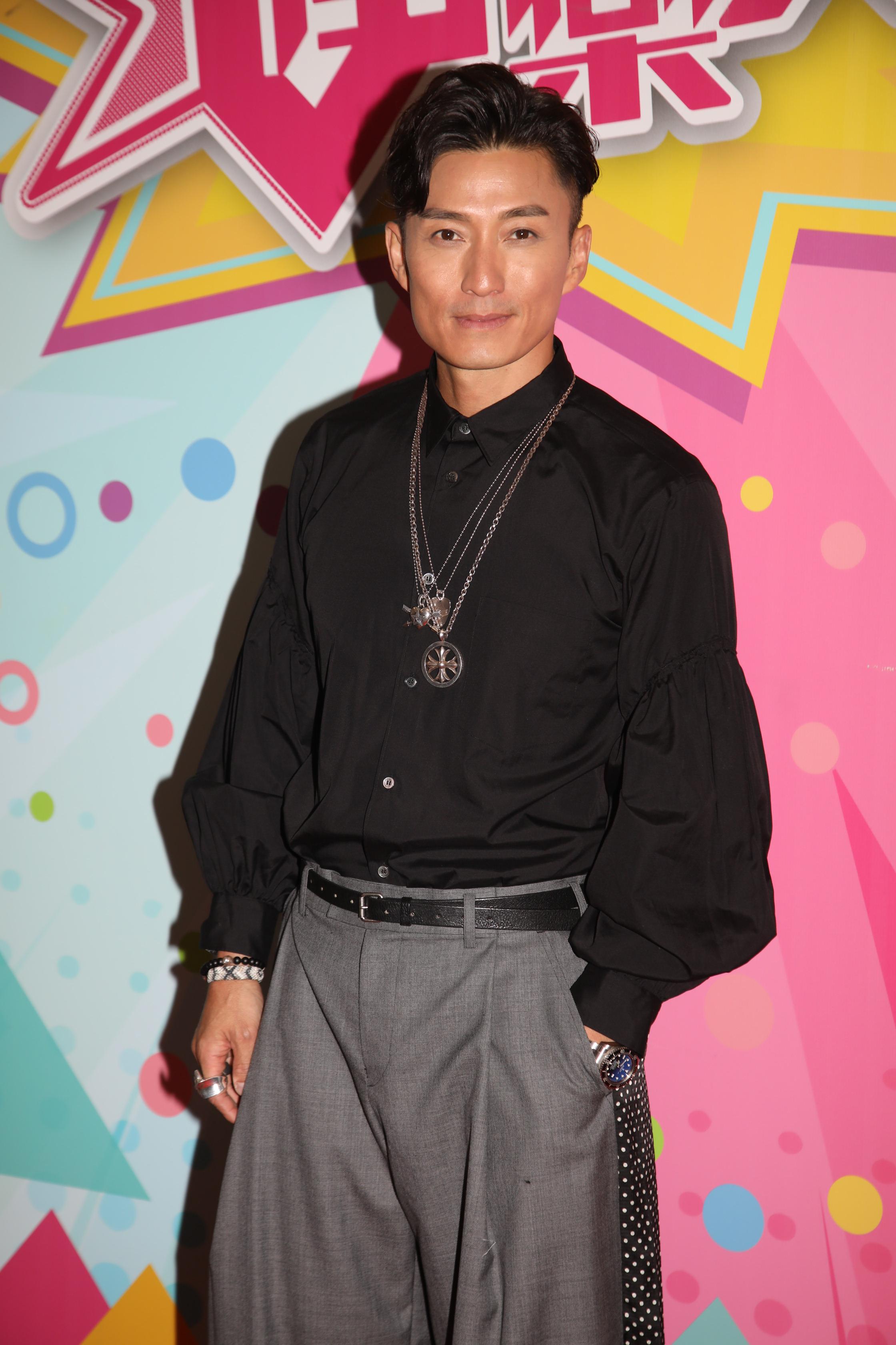 陳山聰前晚為無线節目《娛樂大家》進行錄影。