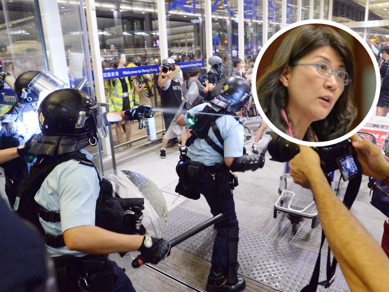 彭韻僖(小圖)泰國返港受阻需改搭航班。