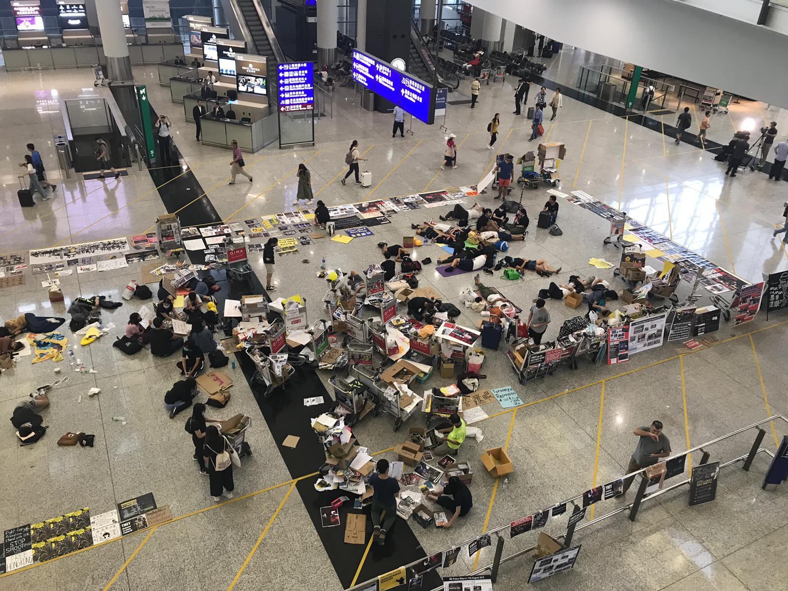 廠商會譴嚴示威者機場集會破壞香港的國際形象。 資料圖片