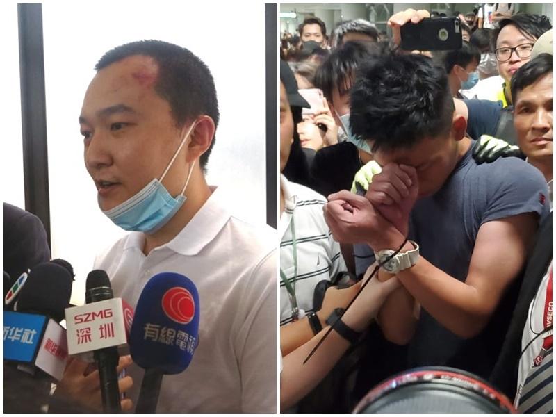 2名內地男子昨晚在機場遇襲。資料圖片
