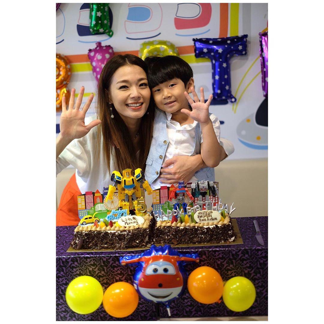 「小蟹籽」5歲生日,呂慧儀悉心為他舉行生日派對。 呂慧儀IG