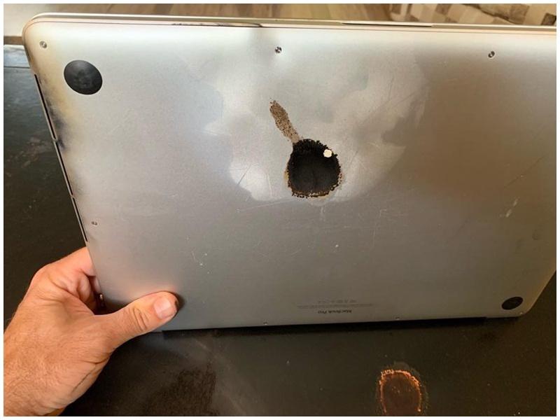 蘋果一批MacBook Pro電池有起火風險。網圖