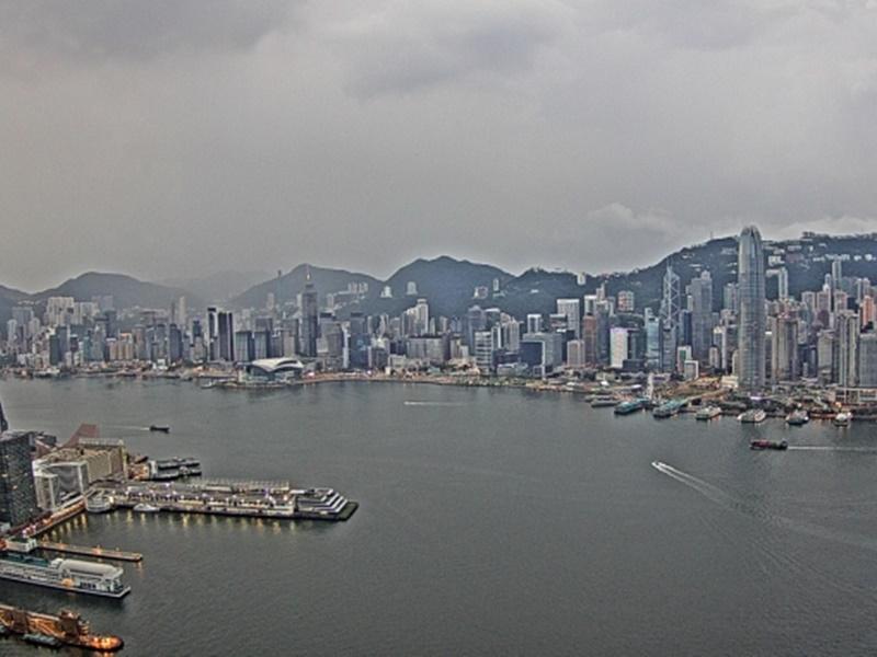 預測今日多雲有驟雨。天文台圖片