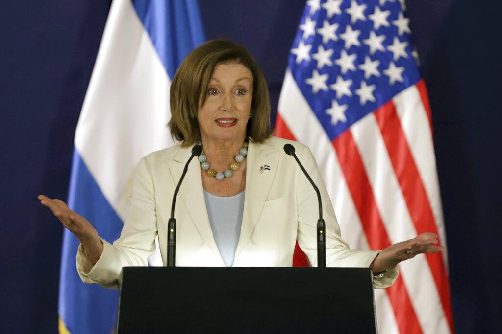 佩洛西指美國國會將跨黨派推動《香港人權與民主法案》。AP圖片