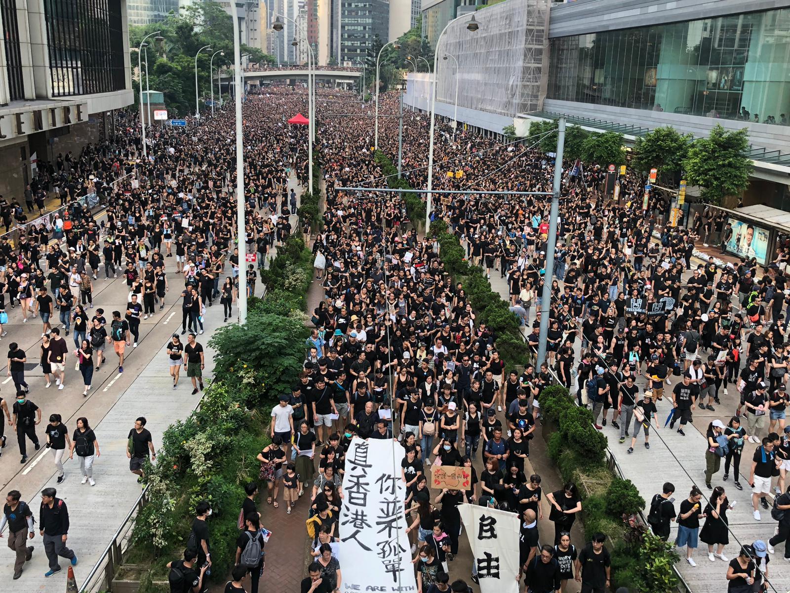 警方禁止遊行至中環。資料圖片