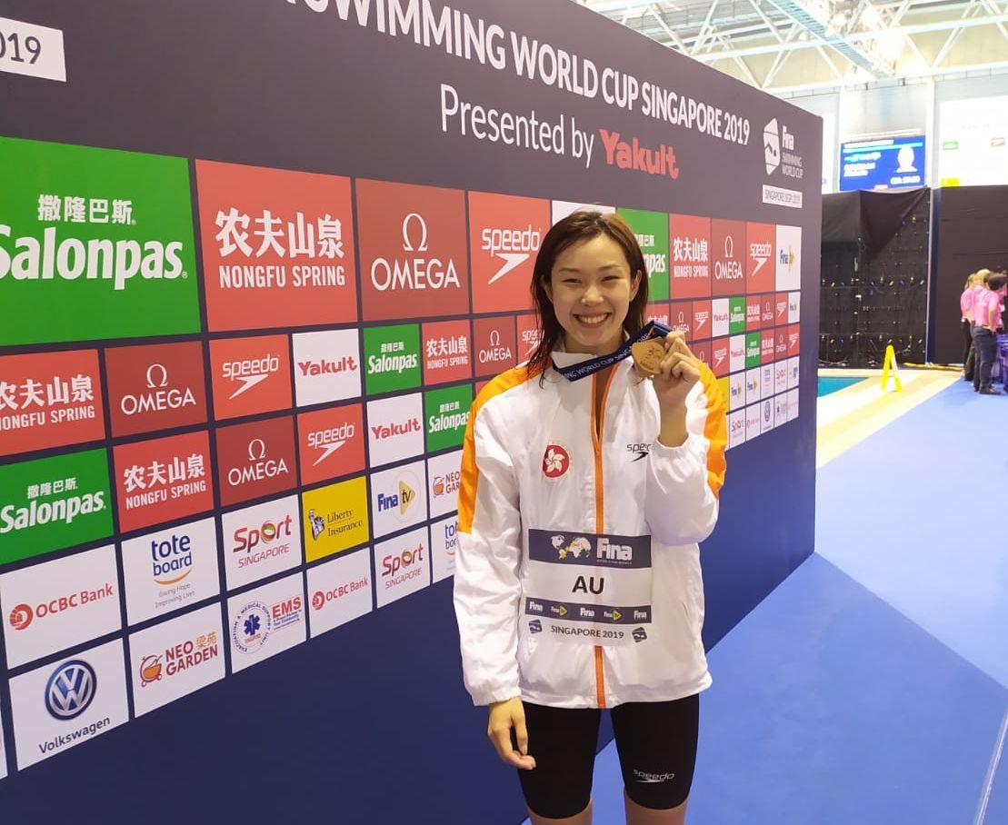 歐鎧淳成為歷來首位四戰奧運的香港泳將。相片由陳劍虹教練提供
