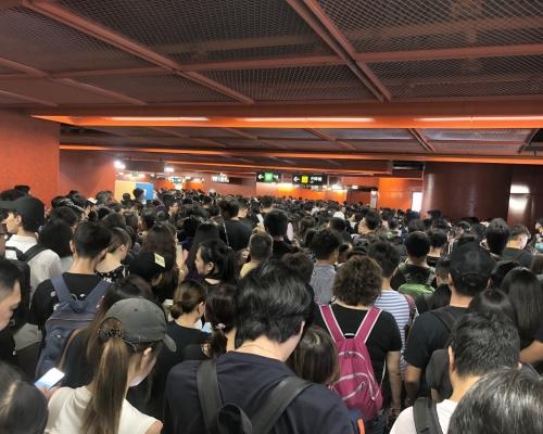 【維園集會】港鐵:不停天后站 安排特別列車接載乘客離開