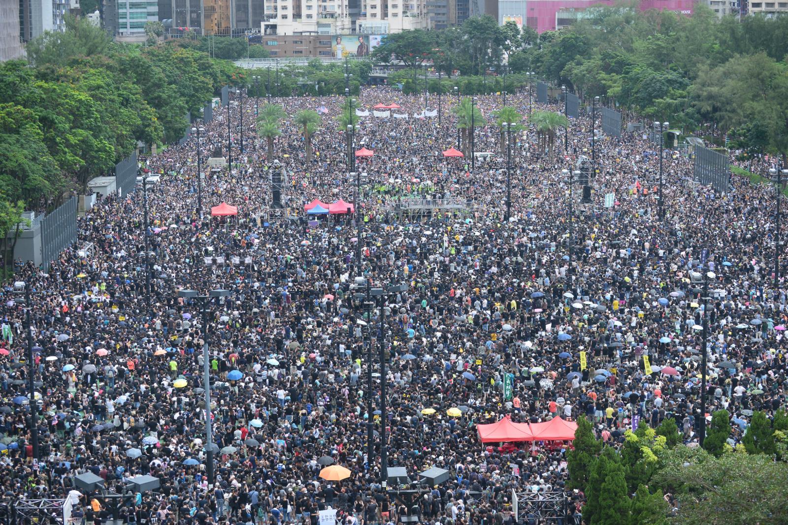 集會在維園足球場舉行。