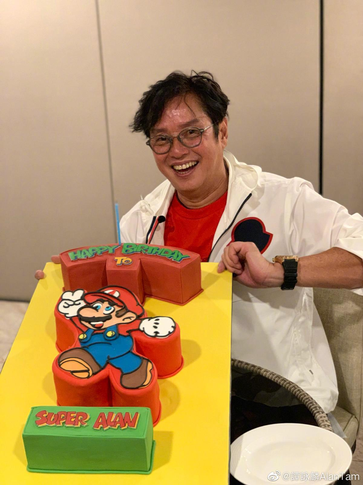 譚詠麟將於本月23日踏入69歲生日。 微博圖片