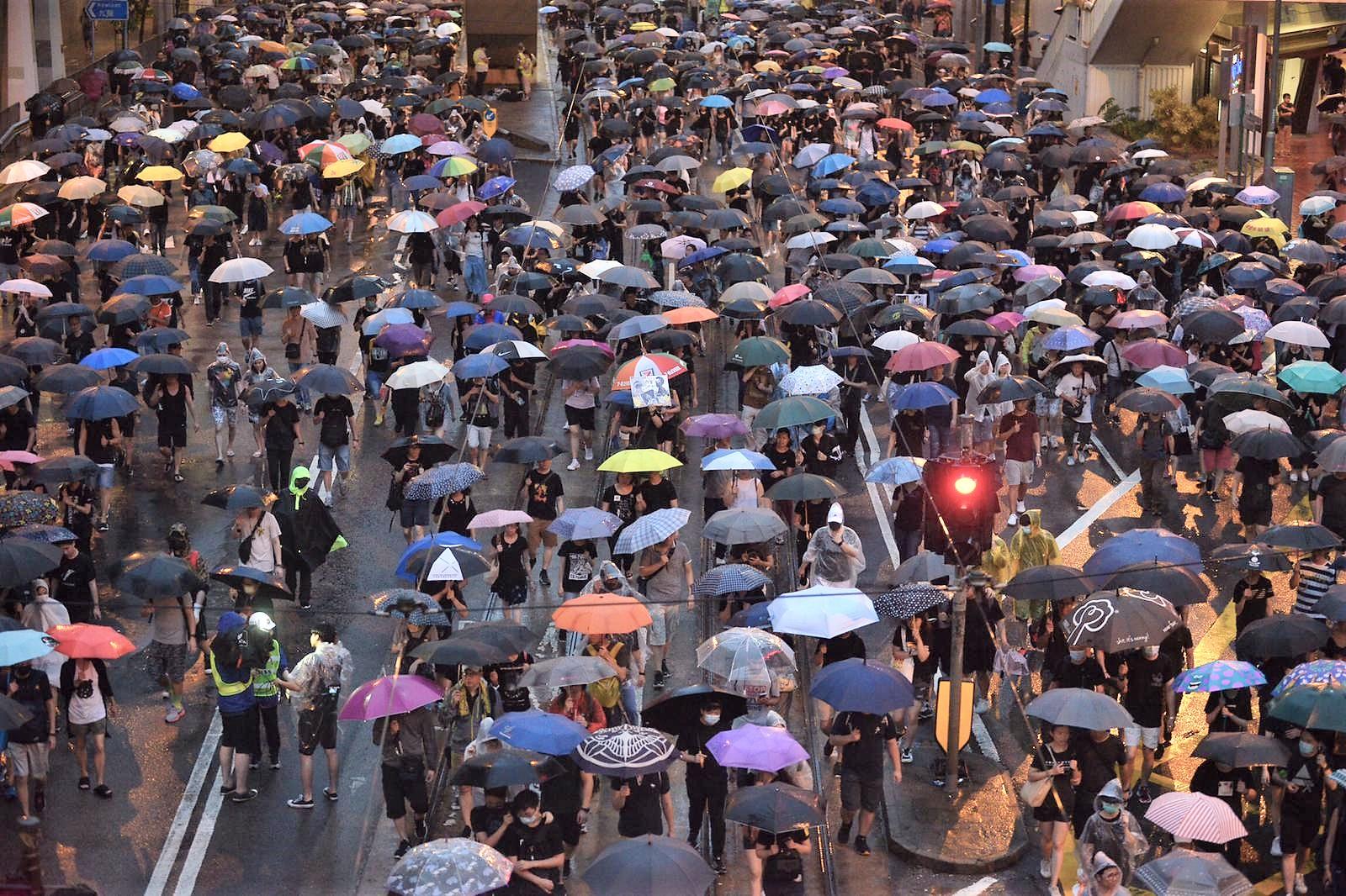 民陣宣布有170萬人參與集會。