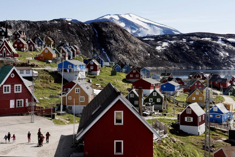 格陵蘭是丹麥屬地,是全球最大島嶼,人口約五萬六千人。AP