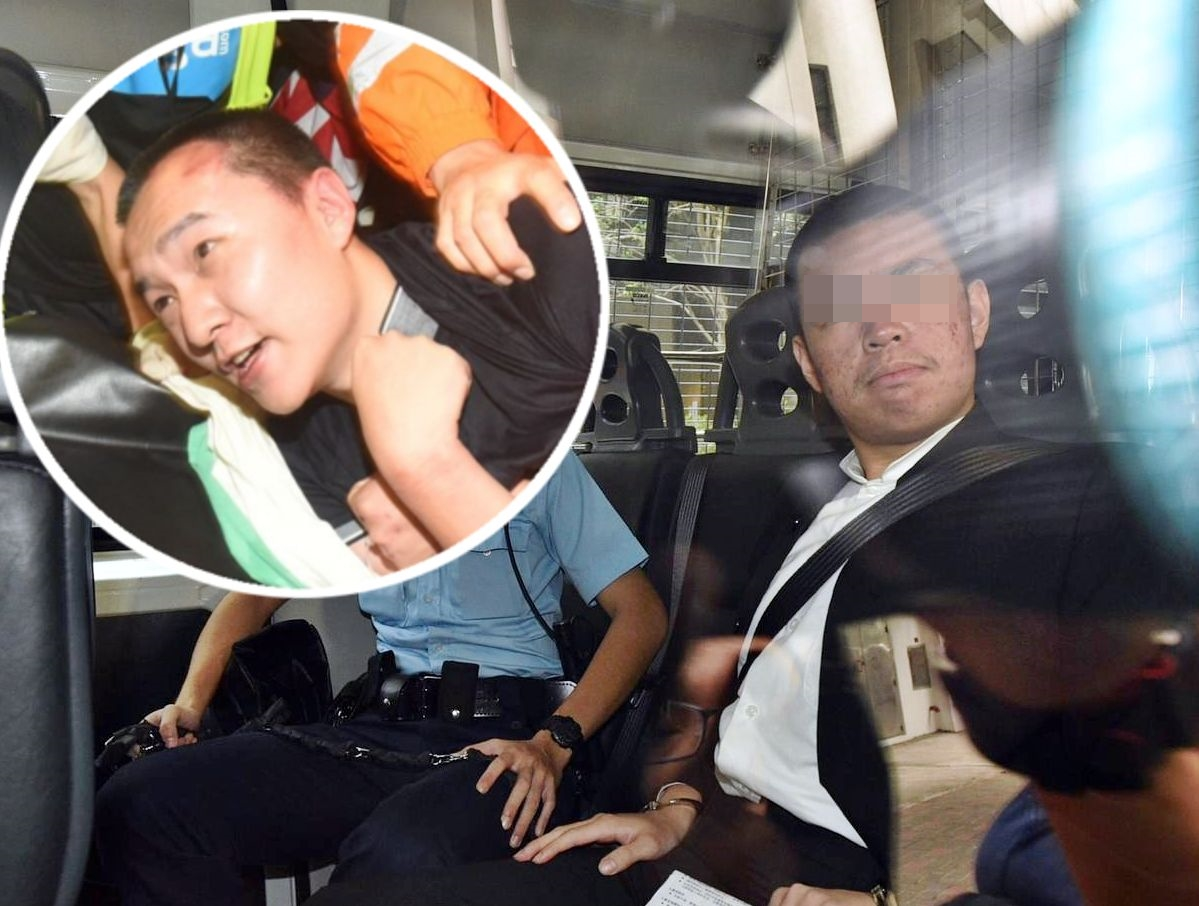 被告賴雲龍、環球時報記者的付國豪(小圖)。