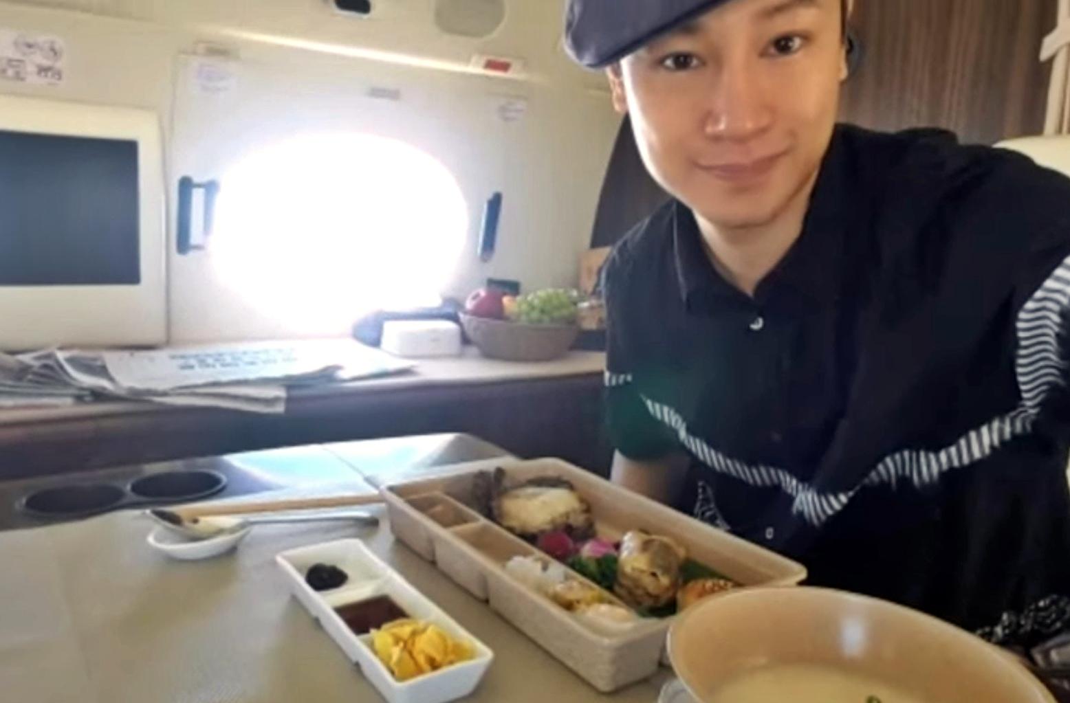 Gary Chung上載搭私人飛機照片。網圖