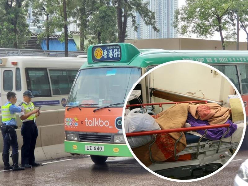 男傷者在瑪麗醫院急症室搶救後被推上病房。